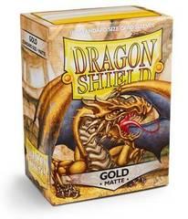 Dragon Shield - Золотые матовые протекторы 100 штук