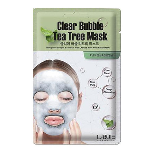Маска кислородная Clear Bubble Tea Tree Mask от Labute