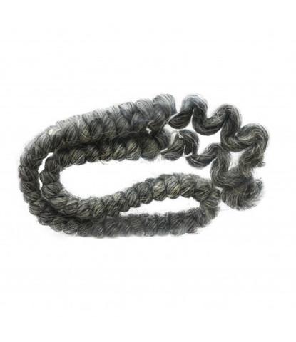 Шерсть креп (искусственные волосы) Mehron темно-серая