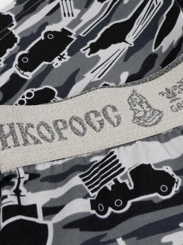 Мужские трусы ВЕЛИКОРОСС семейные «Серые военные»