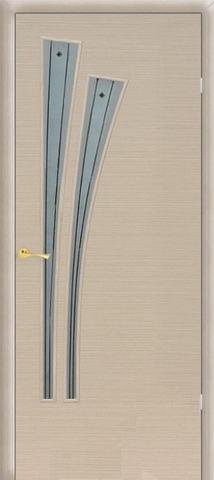 Дверь Сибирь Профиль Лагуна (С-7ф) фьюзинг, фьюзинг, цвет беленый дуб, остекленная