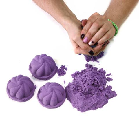 Космический песок 3 кг, сиреневый 3