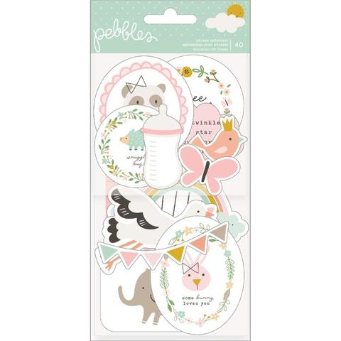 Набор высечек  -Peek-A-Boo You Ephemera Cardstock Die-Cuts - Girl- 40 шт