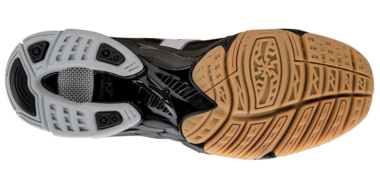 Мужские волейбольные кроссовки Mizuno Wave Bolt 4 Mid черные (V1GA1565 01) с высоким голеностопом  фото