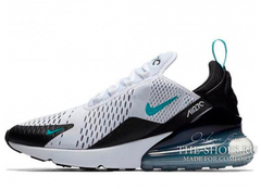 Кроссовки Женские Nike Air Max 270 White Black Turquoise