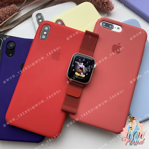 Ремешок Apple watch 38/40mm Milanese Loop /red/ красный