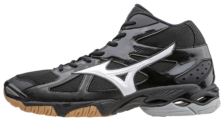 Мужские высокие кроссовки для волейбола Mizuno Wave Bolt 4 Mid черные (V1GA1565 01) фото