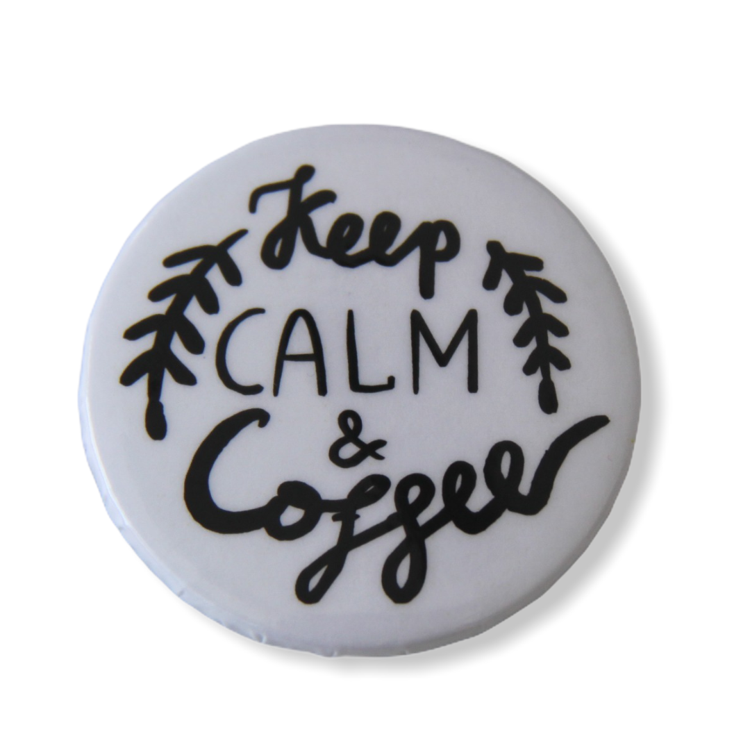 Значок Keep calm and coffee