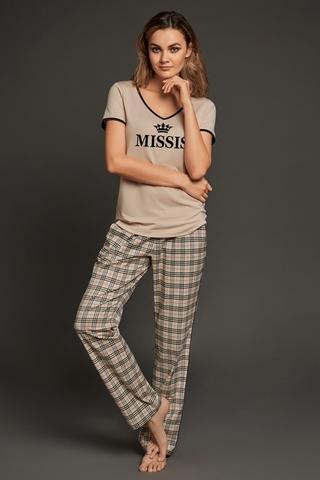 LAETE Женская пижама с брюками в клетку 51574-1
