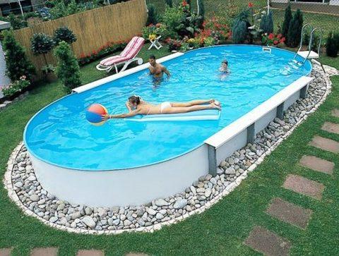 SF Каркасный (сборный) бассейн овальный 737x360x150 пленка 0,6 мм