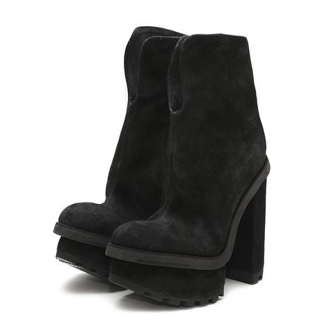 кожанные женские ботинки