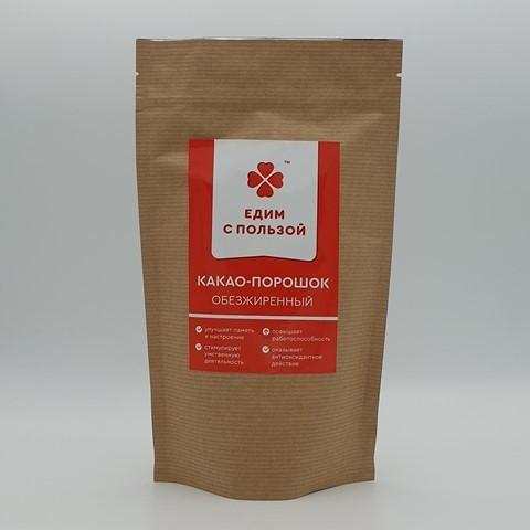 Какао порошок обезжиренный ЕДИМ С ПОЛЬЗОЙ, 225 гр