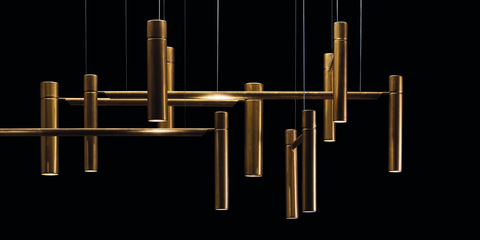 replica TUBULAR HORIZONTAL LIGHT by  HENGE 12 lights