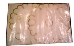 Рушник венчальный + 2 прихватки с вышивкой золотом (анфас) без свечей в упаковке