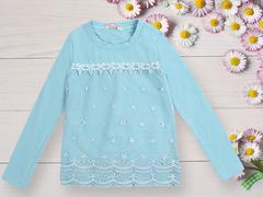 BK1064К-1 кофта для девочек, голубая
