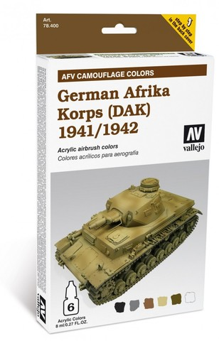 Model Air AFV German Afrika Korps 1941/42 (DAK) (6) 8 ml.