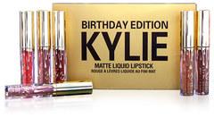 Набор матовых жидких губных помад Kylie Birthday Edition 6 оттенков