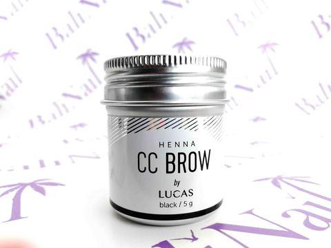 CC BROW, Хна для бровей CC Brow (black) в баночке (черный), 5 гр