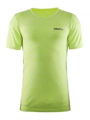 Мужская спортивная футболка Craft Core Seamless 1904881-1605 желтая