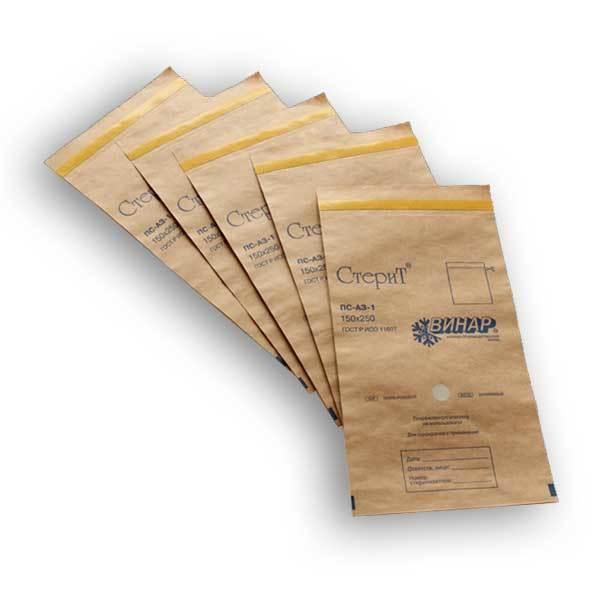 Пакеты бумажные самоклеящиеся