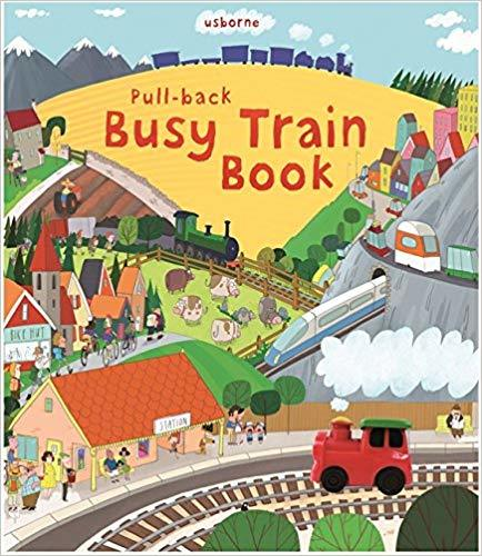 Kitab Pull-Back Busy Train   Fiona Watt