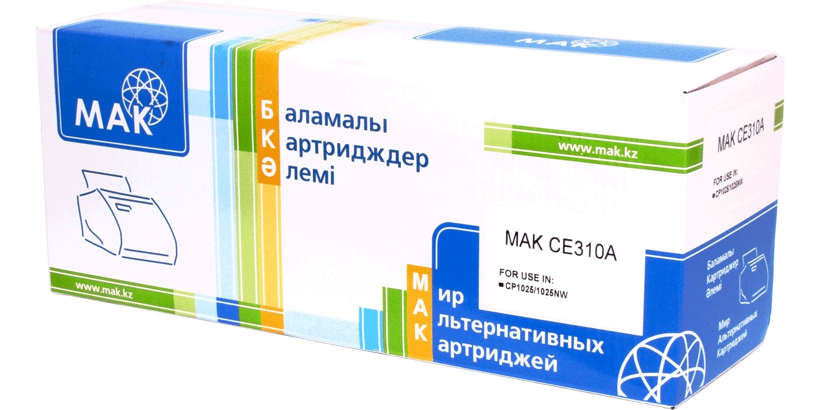 MAK №126A CE310A/Cartridge 729Bk черный, для HP/Canon, до 1200 стр.