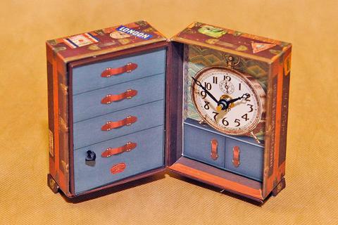 Часы настольные Timeworks Steamer Trunk BCST5S