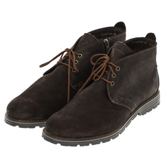 566483 ботинки мужские коричневые байка больших размеров марки Делфино