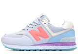 Кроссовки Женские New Balance 574 Dim Blue Coral Purple