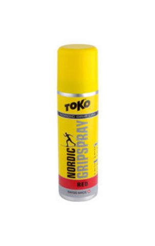 мазь лыжная Toko Grip Line спрей,красная , -1°С/-8°, 70мл