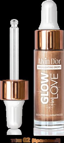 Alvin D`or Жидкий хайлайтер GLOW in LOVE drop 15мл. (тон 02 бронзовый) HL-03