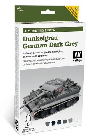 Model Air AFV German Dark Grey Armour Painting System (6) 8 ml.