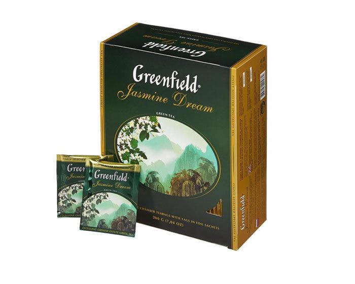 Чай зеленый в пакетиках Greenfield Jasmin Dream, 100 пак/уп (Гринфилд)