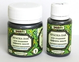 Краска-лак SMAR для создания эффекта эмали, Перламутровая. Цвет №1 Серебристая