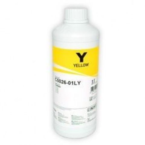 Чернила водорастворимые InkTec C5026-1LY Yellow 1000 мл для заправки картриджей Canon CLI-226Y, 426Y, 526Y, 726Y