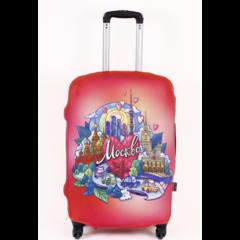 чехол для чемодана «москва», размер m/l (52-65 см)