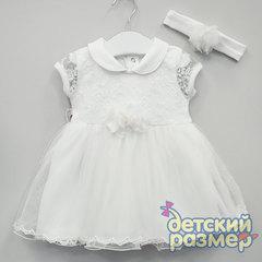 Платье (повязка, кружево, сетка)