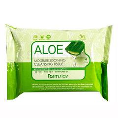 FarmStay Aloe Moisture Soothing Cleansing Tissue - Салфетки очищающие с экстрактом алоэ