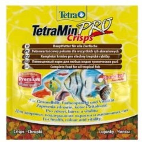 TetraMin Pro Crisps (чипсы) Основной корм для всех видов рыб 12г