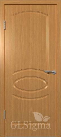Дверь GreenLine Sigma-101, цвет миланский орех, глухая