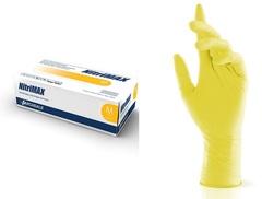 Перчатки нитриловые желтые размер M