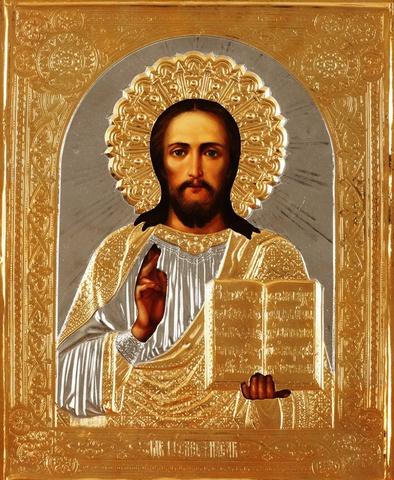 Икона Спасителя (в золоченой ризе)