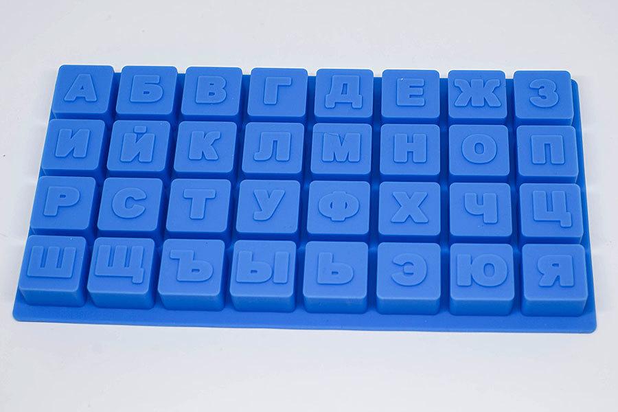 Силиконовая форма для мыла Алфавит