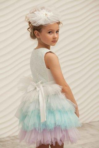 Платье нарядное с ободком