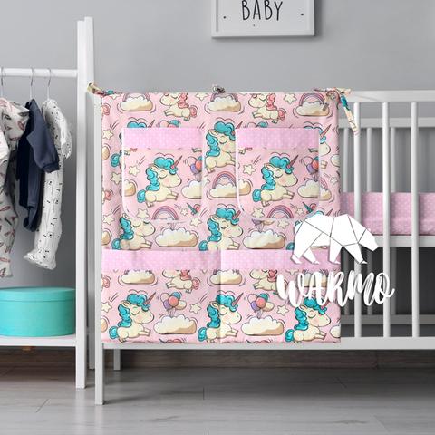 органайзер для ліжечка з рожевими єдинорогами фото