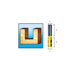 Твердосплавная пазовая фреза с двумя режущими кромками 12*32*20*8 мм