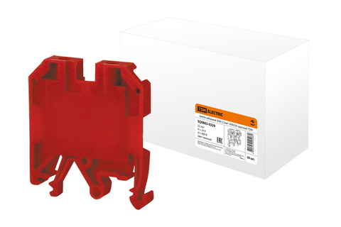 Зажим наборный ЗНИ-2,5мм2 (JXB25А) красный TDM