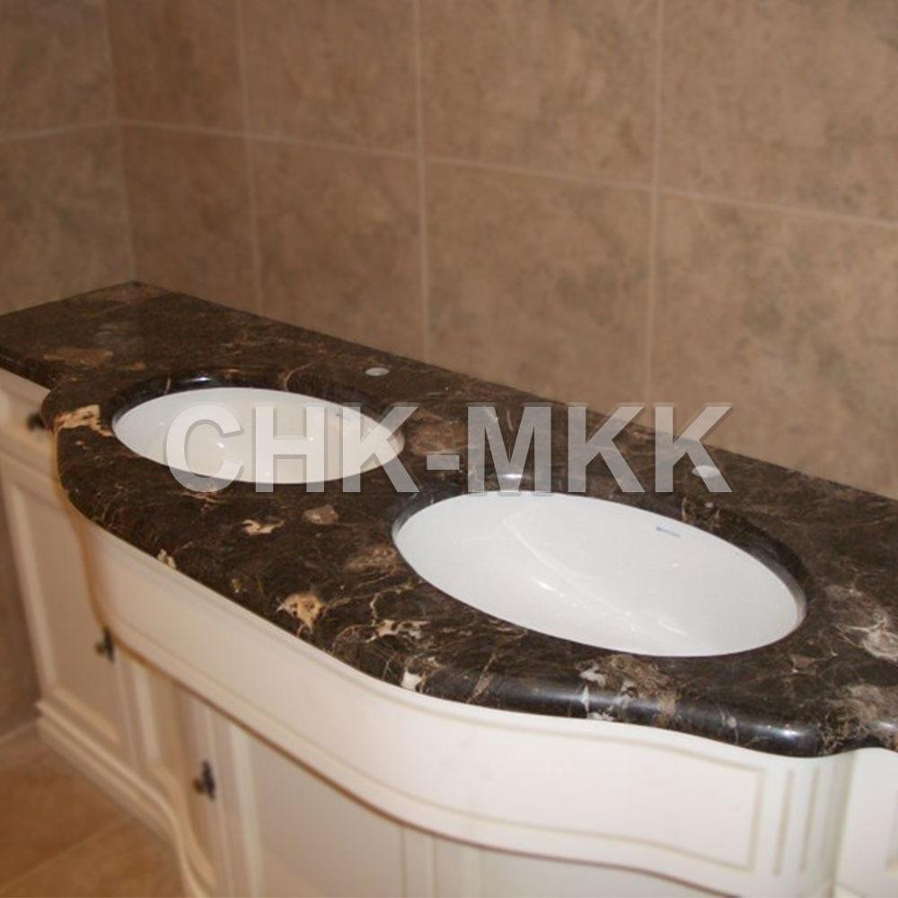 Столешница для ванны из мрамора Имперадор Браун