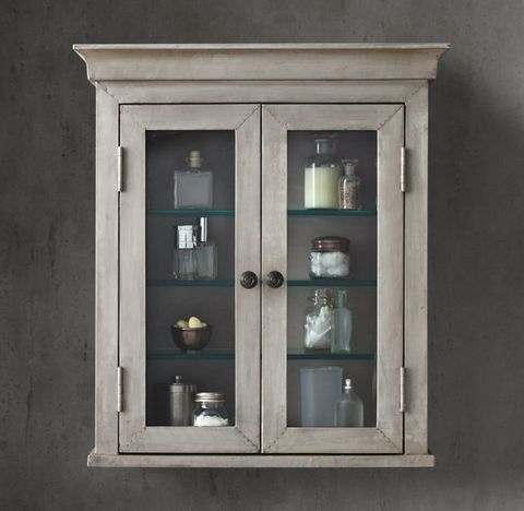 Annecy Metal-Wrapped Wall-Mount Cabinet
