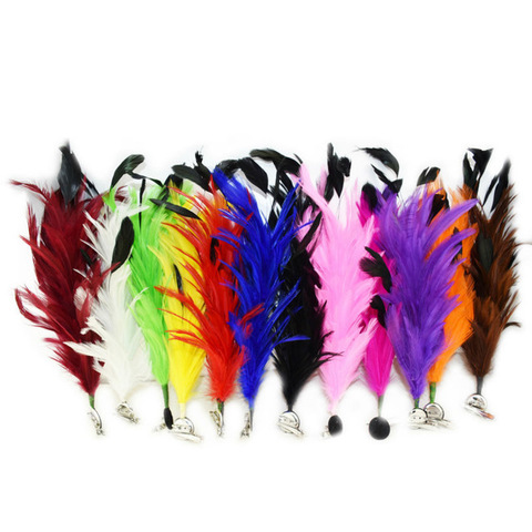 Основа из перьев  петуха на заколке (выбрать цвет)